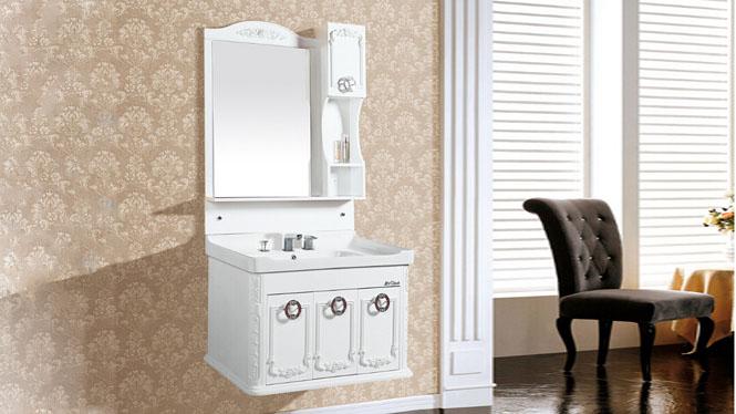 现代简约PVC浴室柜 挂墙式浴室洗手盆柜组合吊柜8402 800mm