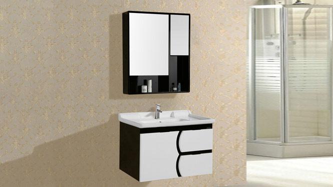 简约现代PVC浴室柜组合吊柜挂墙式洗手洗脸洗漱台8019 800mm