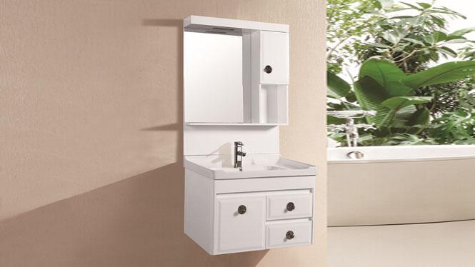 高档PVC一体挂墙式卫浴柜洗脸盆浴室柜卫生间洗簌储物柜8406 800mm
