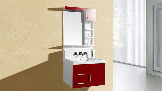 新款一体玉石高档含抽拉式水龙头卫生间洗脸盆浴室柜8218 800mm