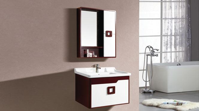 防水PVC浴室柜小户型组合 卫生间洗脸洗手盆柜挂墙式吊柜组合8015 800mm