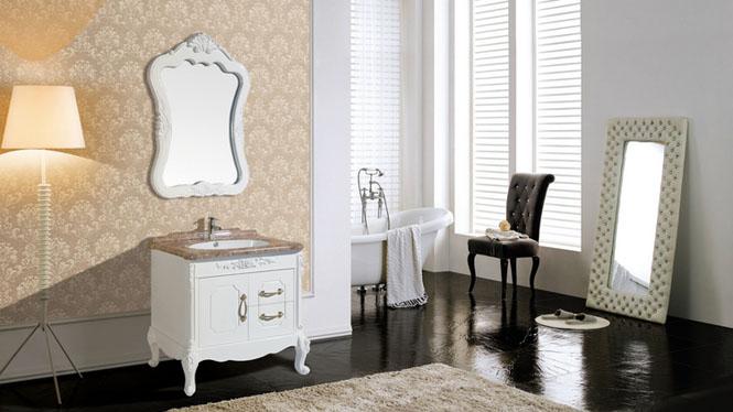 新款高档PVC卫浴柜落地 洗脸盆浴室柜 卫生间洗簌柜8278 800mm