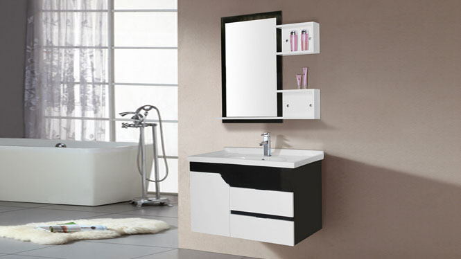 pvc浴室柜卫浴吊柜洗脸洗手盆柜挂墙式浴室柜组合8096 800mm