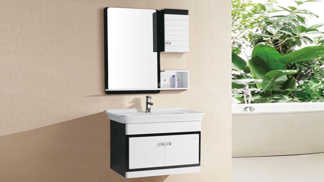浴室柜组合简约pvc卫浴柜小洗漱台洗脸池手盆台盆吊柜8092 800mm