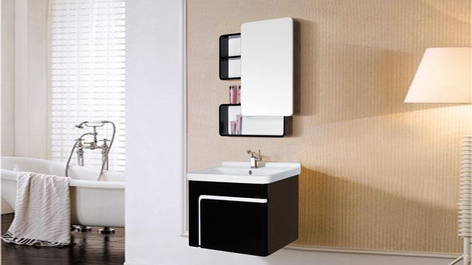简约现代PVC挂墙式浴室柜组合卫生间卫浴洗脸洗手盆池洗漱台7018 700mm