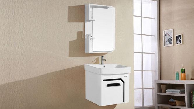 PVC浴室柜组合吊柜橡木洗漱台洗脸手盆池镜柜挂墙式6018 600mm