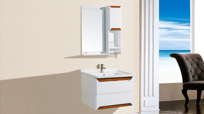 pvc 浴柜浴室柜组合卫生间洗脸洗手盆洗漱台卫生间吊柜挂墙式7090 700mm