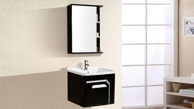 新款热销PVC卫浴柜 洗脸盆浴室柜 卫生间洗簌储物柜6098 600mm