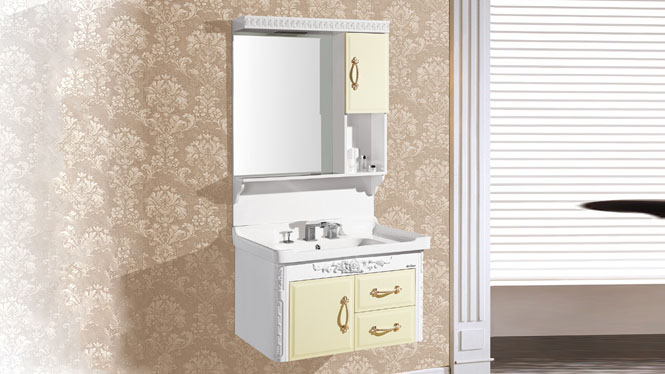 高档PVC一体卫浴柜 洗脸盆浴室柜 卫生间洗簌储物柜8405 800mm