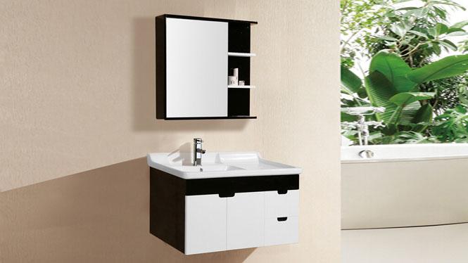 PVC浴室柜橡木卫浴吊柜洗脸洗手盆柜挂墙式浴室柜组合9048 900mm
