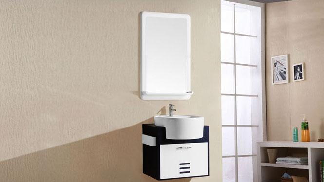防水PVC浴室柜小户型组合 卫生间洗脸洗手盆柜挂墙式吊柜组合5018 500mm