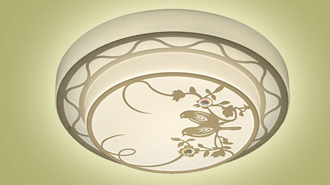 中国风层亚克力圆形双层喜鹊复古厨卫灯led厨卫吸顶灯圆形HB006