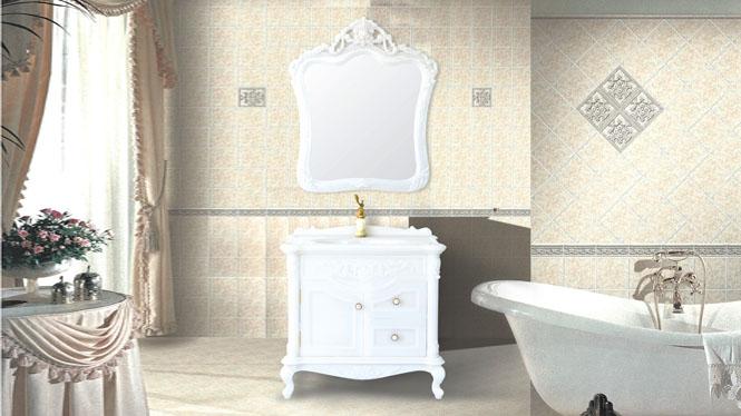 玉石欧式浴室柜组合玉石落地洗手盆玉石盆卫浴柜洗脸盆组合900mm HW-81100