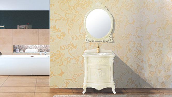 玉石落地浴室柜组合玉石现代简约洗手盆 欧式卫浴柜玉石盆台面700mm HW-8070