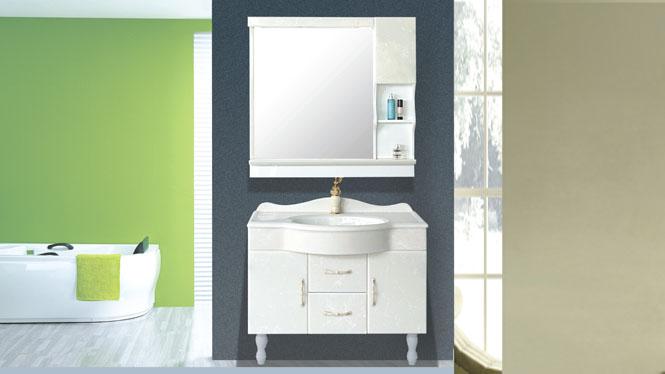 欧式豪华落地玉石台盆柜 洗手洗头玉石整体浴室柜洗漱台800mm-1000mm HW-8814