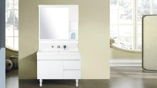 玉石浴室柜洗脸盆柜组合卫浴柜洗手盆欧式玉石浴室柜组合包龙头800mm-1000mm HS-6878