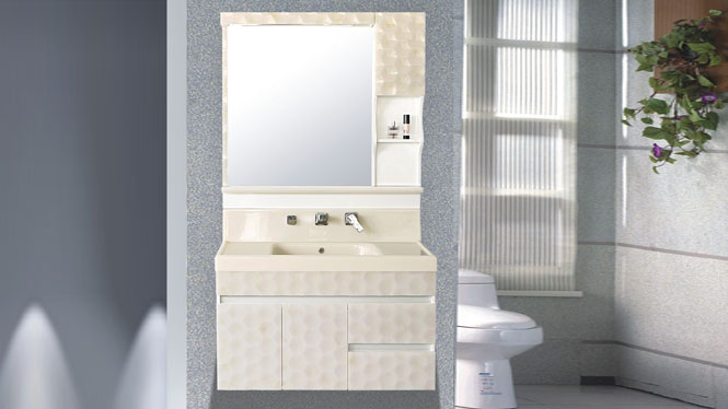 玉石卫浴柜洗脸盆组合卫生间洗手盆玉石挂墙浴室柜送龙头1000mm HW-6872