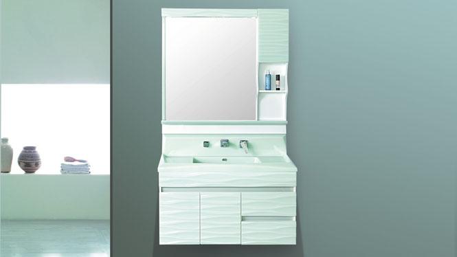 玉石卫浴欧式浴室柜组合玉石盆洗漱台洗手洗脸盆卫生间柜吊柜包龙头800mm-100mm HW-6877