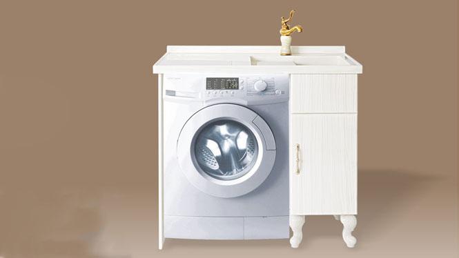 人造玉石洗衣柜阳台浴室柜带搓衣板组合可非标订做1000mm-1200mm XT-5506