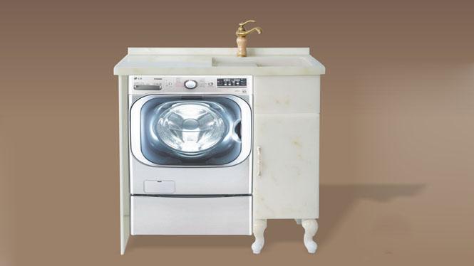 人造玉石洗衣柜阳台浴室柜带搓衣板组合可非标订做1000mm-1200mm XG-5506