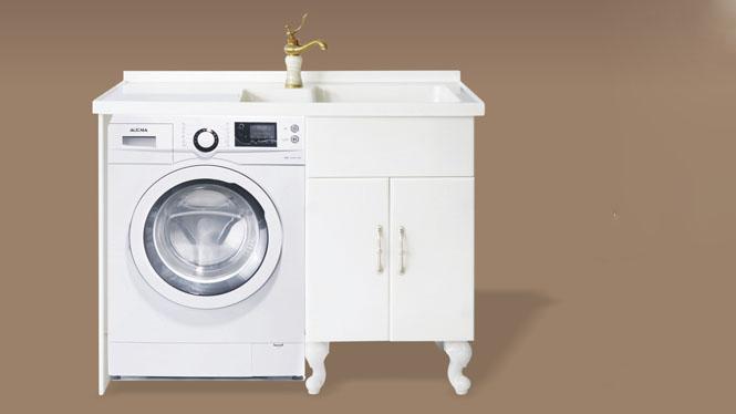 人造玉石洗衣柜阳台浴室柜带搓衣板组合可非标订做1000mm-1200mm XS-5506