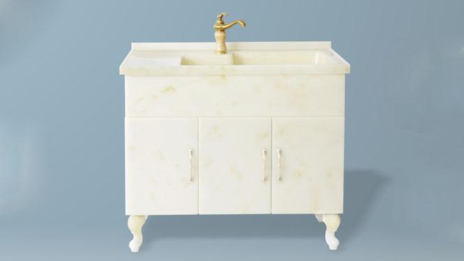 玉石洗衣柜阳台洗衣机伴侣柜浴室柜带搓衣板组合可非标订做1000mm-1200mm XG-5506