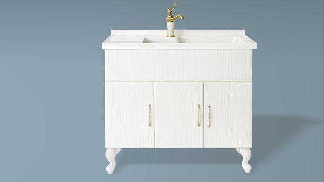 玉石洗衣柜阳台洗衣机伴侣柜浴室柜带搓衣板组合可非标订做1000mm-1200mm XT-5506