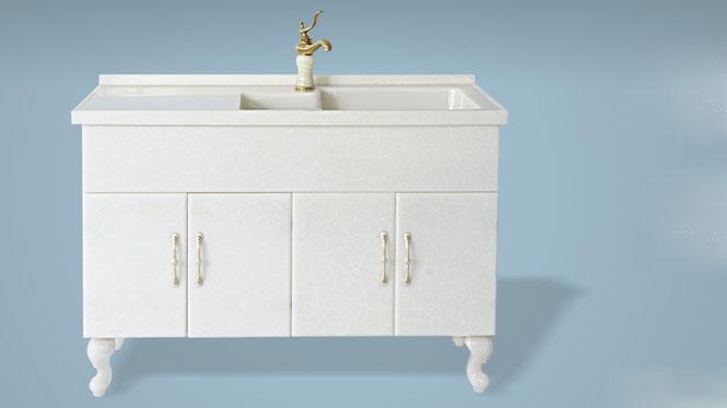 玉石洗衣柜阳台洗衣机伴侣柜浴室柜带搓衣板组合可非标订做1000mm-1200mm XA-5506