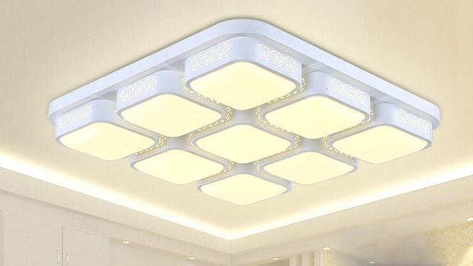 现代简约LED卧室灯具儿童房吸顶灯具田园客厅灯饰创意书房灯饰PS6104