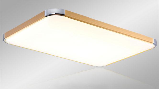 无极调光调色LED客厅灯长方形led吸顶灯现代简约超薄顶灯卧室灯具PG600