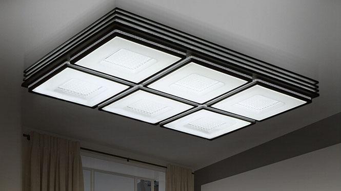 客厅灯具 长方形大气现代简约 卧室led吸顶灯饰无极调光PA6109
