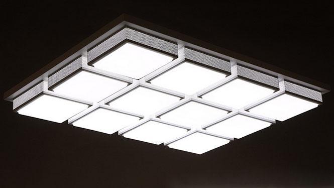 中式现代LED吸顶灯水立方客厅灯卧室书房灯具灯饰PS6003