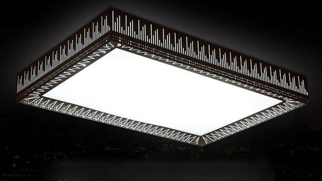 长方形LED吸顶灯水立方客厅灯浪漫卧室无极调光古镇灯饰PS6227