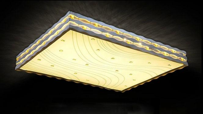 客厅灯 LED吸顶灯 现代简约 灯具长方形 led客厅灯 吸顶灯饰灯具PS600