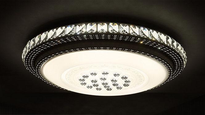 LED水晶圆形吸顶客厅灯批发奢华卧室灯餐厅灯创意书房吸顶灯PS6226