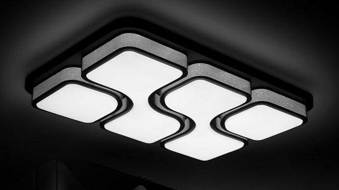 现代LED吸顶灯简约客厅灯创意长方形吸顶灯灯饰灯具 PS800双箭头