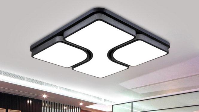 现代简约灯饰LED吸顶客厅灯创意卧室灯正方形吸顶灯 PS800无印花款