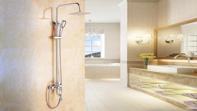 全铜花洒套装 淋浴套装 增压花洒套 H1015