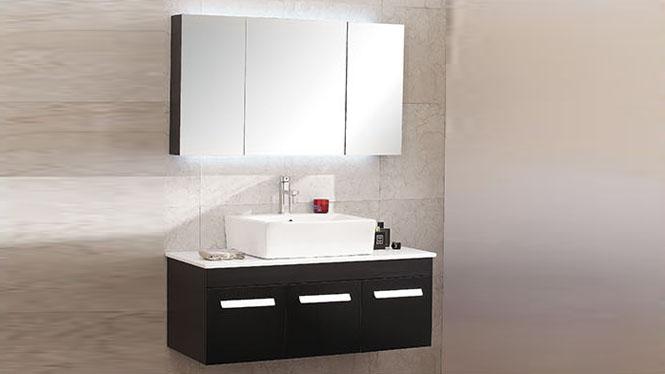 浴室柜组合现代简约实木卫生间卫浴柜洗脸盆挂墙式镜吊柜BG-7001 1100mm600mm700mm800mm900mm1000mm1200mm