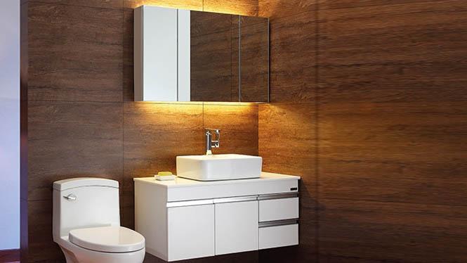 橡胶木浴室柜组合实木卫浴柜 洗脸盆柜组合洗手盆柜组合柜BG-7015 900mm800mm1000mm