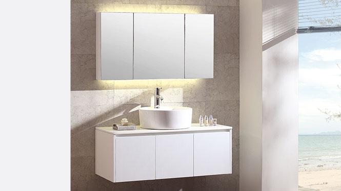 浴室柜 背光灯浴室镜柜 橡胶实木浴室柜BG-7008 1200mm600mm700mm800mm900mm1000mm1100mm