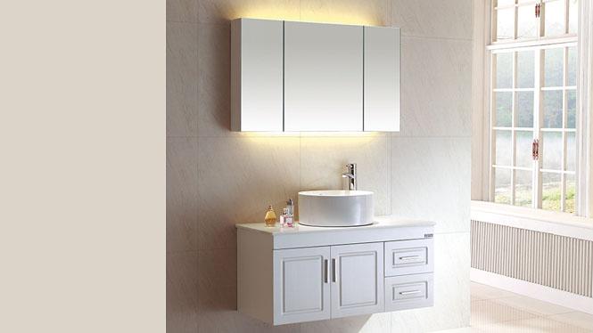 欧式浴室柜特价卫浴柜组合实木洗脸盆组合柜浴室镜柜BG-7012 900mm800mm1000mm