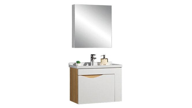 时尚卫浴镜柜现代简约实木橡木吊柜挂墙式浴室柜组合YP-60260-A 610mm800mm900mm1000mm