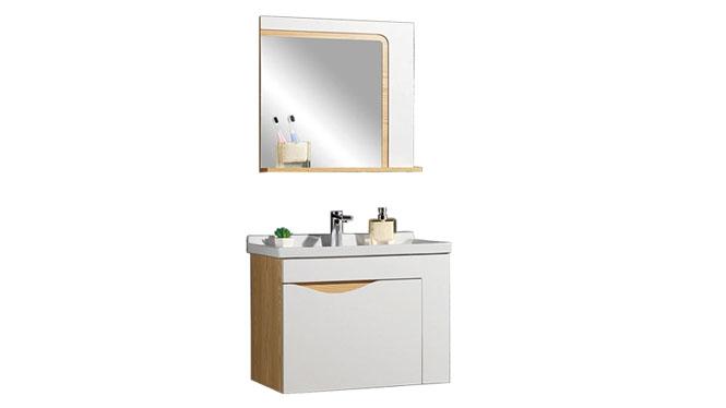 时尚卫浴镜柜现代简约实木橡木吊柜挂墙式浴室柜组合YP-60260-B 610mm800mm900mm1000mm