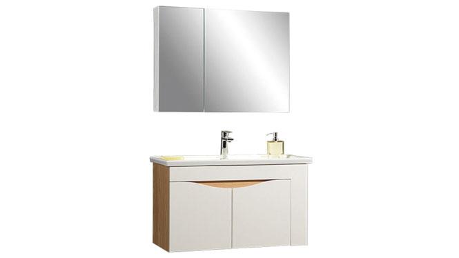 时尚卫浴镜柜现代简约实木橡木吊柜挂墙式浴室柜组合YP-60280-A 800mm610mm900mm1000mm