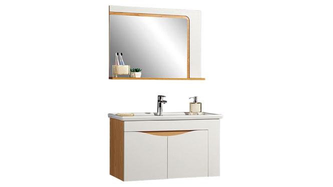时尚卫浴镜柜现代简约实木橡木吊柜挂墙式浴室柜组合YP-60280-B 800mm610mm900mm1000mm