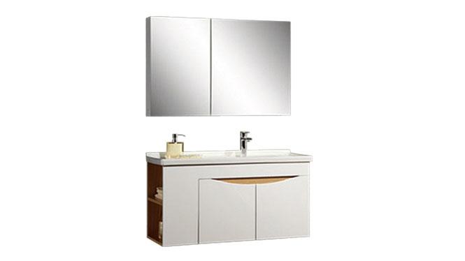 时尚卫浴镜柜现代简约实木橡木吊柜挂墙式浴室柜组合YP-60290-A 900mm610mm800mm1000mm