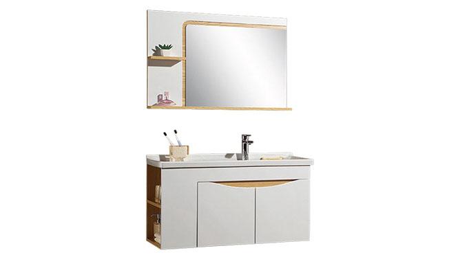 时尚卫浴镜柜现代简约实木橡木吊柜挂墙式浴室柜组合YP-60290-B 900mm610mm800mm1000mm