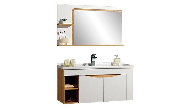 时尚卫浴镜柜现代简约实木橡木吊柜挂墙式浴室柜组合YP-602100-B 1000mm610mm800mm900mm