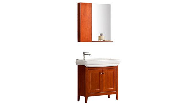 简约欧式仿古实木洗脸盆洗手盆卫生间洗面盆浴室柜组合YP-1515 810mm
